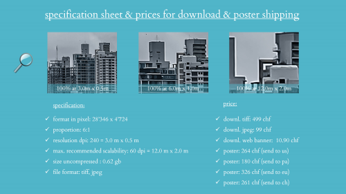 First Additional product image for - splendit panama city skyline 3 (3.0 x 0.5 m) Poster sent to USA