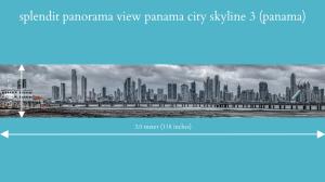 splendit panama city skyline 3 (3.0 x 0.5 m) poster sent to usa