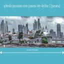 splendit panama city skyline 2 (1.8 x 0.5 m) Poster sent to Europe | Photos and Images | Travel