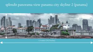 splendit panama city skyline 2 (1.8 x 0.5 m) poster sent to panama