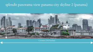 splendit panama city skyline 2 (1.8 x 0.5 m) poster sent to usa