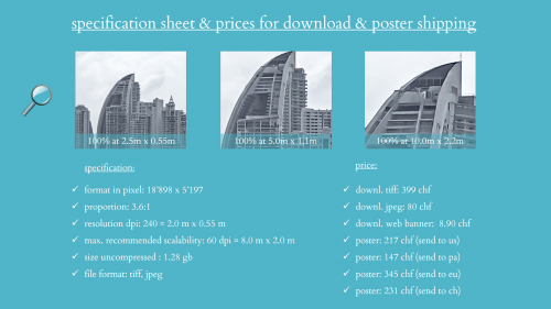First Additional product image for - splendit panama city skyline 1 (2.0 x 0.55 m) Poster sent to Switzerland