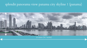 splendit panama city skyline 1 (2.0 x 0.55 m) poster sent to panama