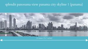 splendit panama city skyline 1 (2.0 x 0.55 m) poster sent to usa