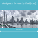 splendit panama city skyline 1 (2.0 x 0.55 m) tiff original size | Photos and Images | Travel