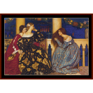 Venetian Ladies – F. C. Cowper cross stitch pattern by Cross Stitch Collectibles | Crafting | Cross-Stitch | Other