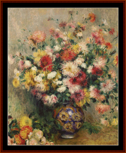 Dahlias - Renoir cross stitch pattern by Kathleen George at Cross Stitch Collectibles | Crafting | Cross-Stitch | Other