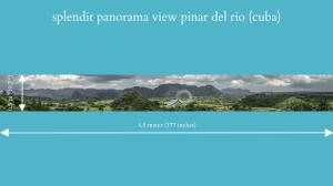 splendit panorama view pinar del rio (4.5 x 0.5 m) poster sent to usa