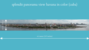 splendit panorama view havana in color (4.0 x 0.5 m) Poster sent to EU | Photos and Images | Travel