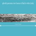 splendit panorama view havana in black & white (4.0 x 0.5 m) tiff original size   Photos and Images   Travel