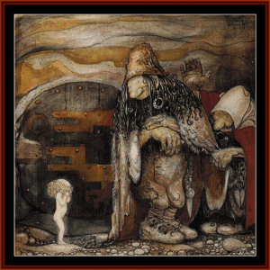 among elves and gnomes – john bauer cross stitch pattern by cross stitch collectibles