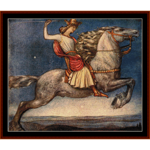 riddaren rider – john bauer cross stitch pattern by cross stitch collectibles