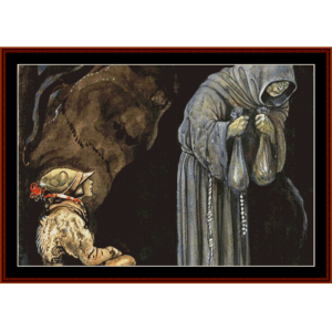 the prophet – john bauer cross stitch pattern by cross stitch collectibles