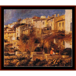 terrace at cagnes cross stitch pattern by cross stitch collectibles