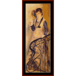 on the stairs cross stitch pattern by cross stitch collectibles