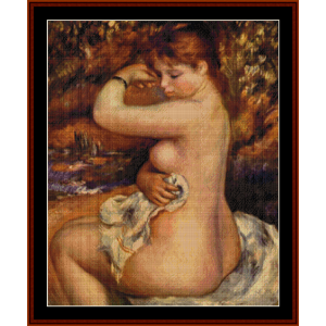 After the Bath cross stitch pattern by Cross Stitch Collectibles | Crafting | Cross-Stitch | Other