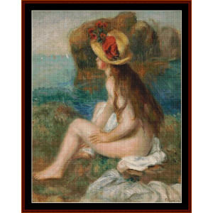 Nude in Straw Hat cross stitch pattern by Cross Stitch Collectibles | Crafting | Cross-Stitch | Other