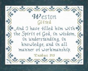 name blessings - weston 2