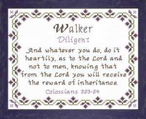 name blessings - walker