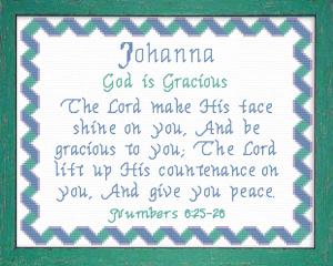 name blessings - johanna