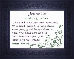 name blessings - jeanette