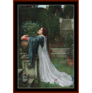 isabella and the pot of basil cross stitch pattern by cross stitch collectibles