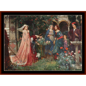 the enchanted garden cross stitch pattern by cross stitch collectibles