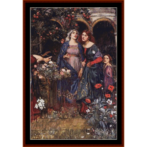 the enchanted garden, detail cross stitch pattern by cross stitch collectibles