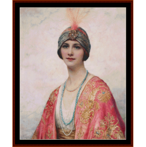 Beauty in Eastern Costume – W.C. Wontner cross stitch pattern by Kathleen George at Cross Stitch Collectibles | Crafting | Cross-Stitch | Other