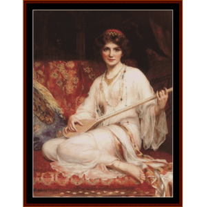 the dancing girl – w.c. wontner cross stitch pattern by kathleen george at cross stitch collectibles