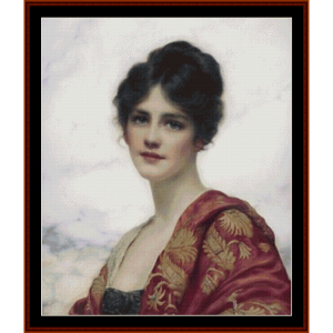 esme – w.c. wontner cross stitch pattern by kathleen george at cross stitch collectibles