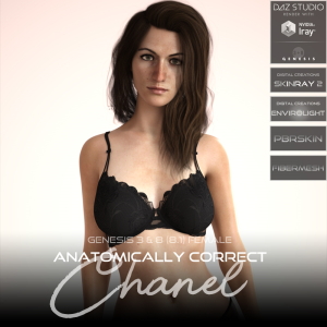 Anatomically Correct: Chanel for Genesis 3 and Genesis 8 Female (8.1) | Software | Design