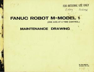 fanuc robot m - model 1 maintenance drawing (full schematic circuit diagram)