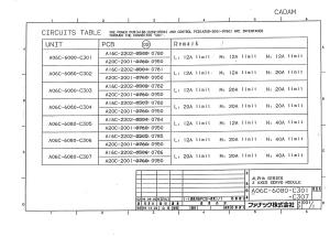 fanuc a06b-6080-h301, h302, h303, h304, h305, h306, h307 alpha svm3 - interface type b (full schematic circuit diagram)