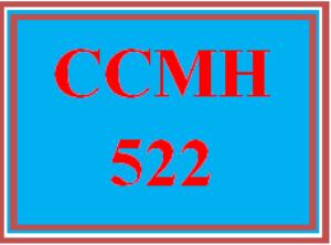 ccmh 522 wk 1 discussion - drug motabolism