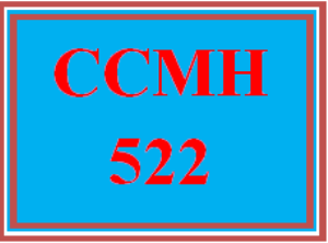 ccmh 522 wk 3 discussion - anxiety