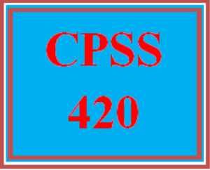cpss 420 wk 1 - history and abuse of substance abuse and addiction paper