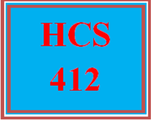 HCS 412 Wk 3 - Project Plan: Work Breakdown Structure and Gantt Chart   eBooks   Education