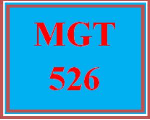 mgt 526 wk 2 - apply: signature assignment: organizational analysis