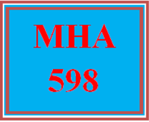 mha 598 week 1 discussion board