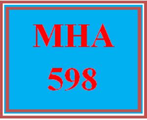 mha 598 week 4 discussion board
