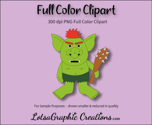 Troll With Spiked Club Clipart | Photos and Images | Clip Art