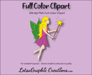fairy with wand clipart