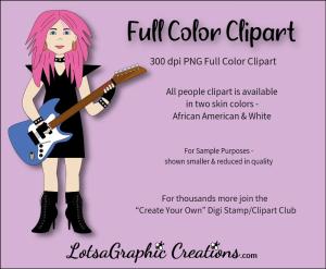 guitar girl 1 clipart