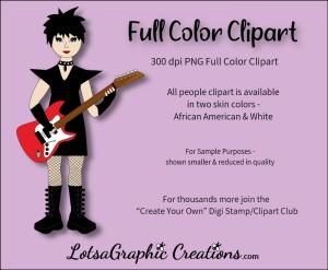 guitar girl 2 clipart