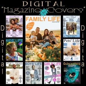 (d) digital magazine covers