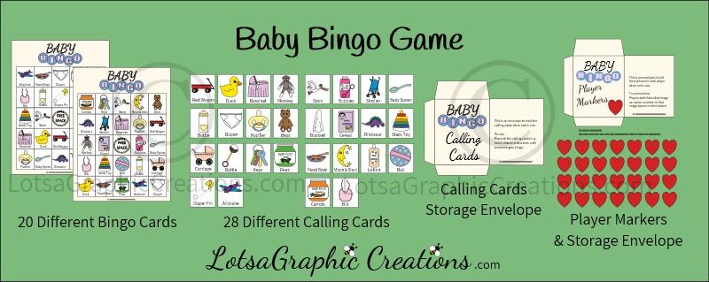 Fourth Additional product image for - Printable Baby Bingo Game Set