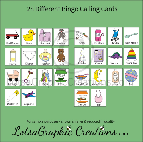 Second Additional product image for - Printable Baby Bingo Game Set