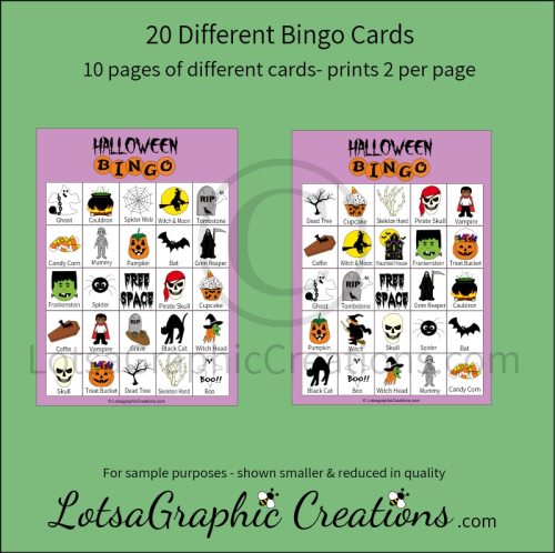 First Additional product image for - Printable Halloween Bingo Game Set