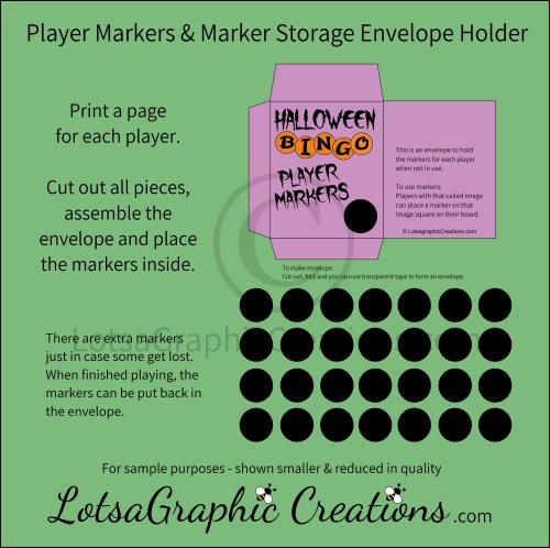 Second Additional product image for - Printable Halloween Bingo Game Set